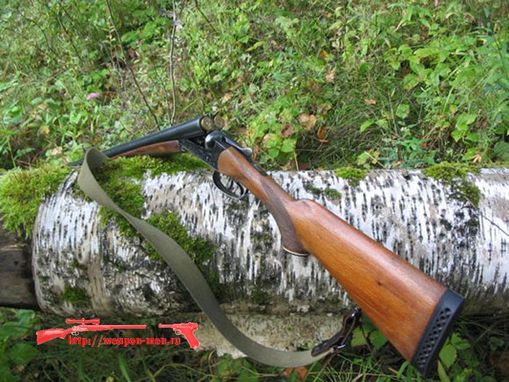Двухствольное охотничье оружие с горизонтальными стволами