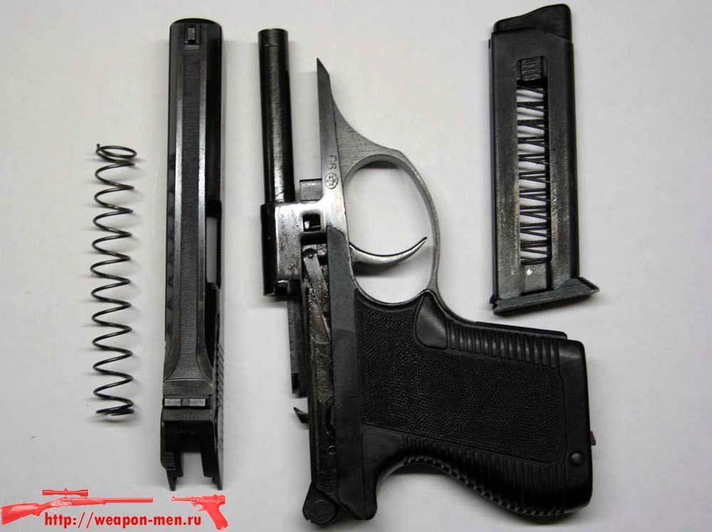 Газовый пистолет ИЖ-78 (Неполная разборка)