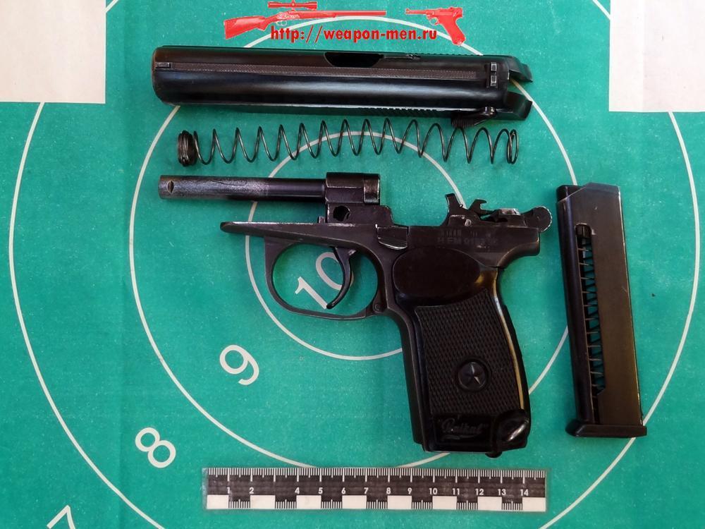 Газовый пистолет ИЖ 79-7.6 (Неполная разборка)