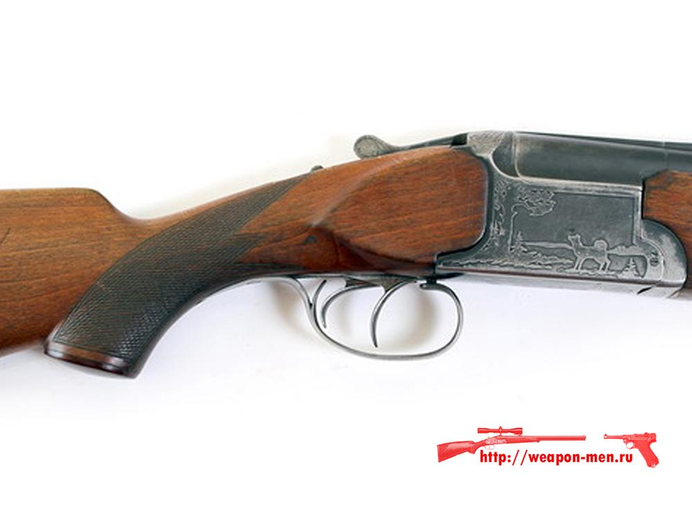 Гладкоствольное охотничье ружьё с вертикальными стволами ИЖ 12