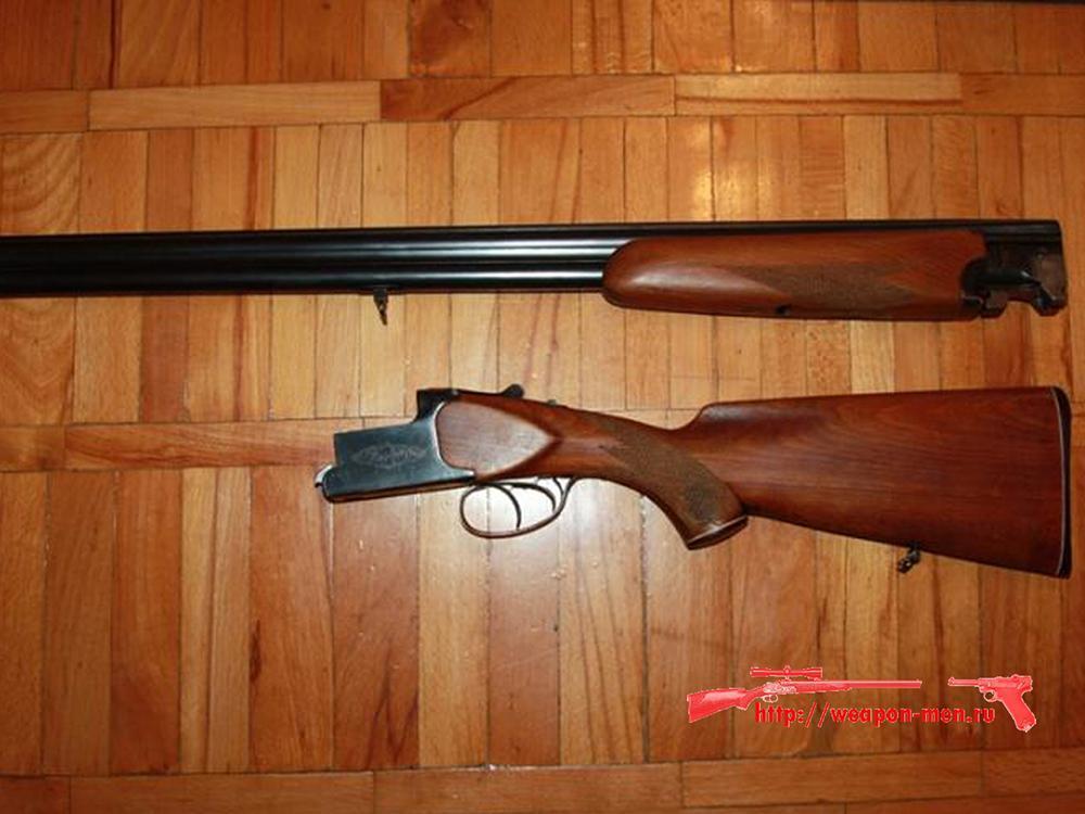 Гладкоствольное охотничье ружьё с вертикальными стволми ИЖ 27