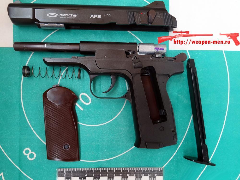 Пневматический пистолет Стечкина АПС (Неполная разборка)