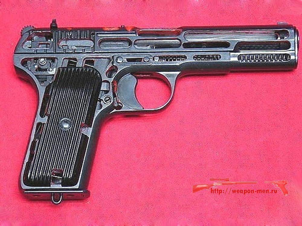 Пистолет ТТ - Тульский Токорев (Схематический разрез)