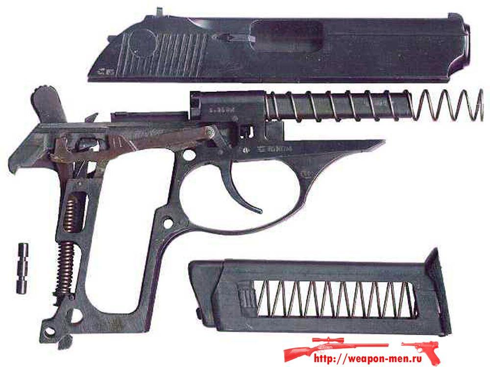 Травматический пистолет ПCМ Иж-78-9Т (Неполная разборка)