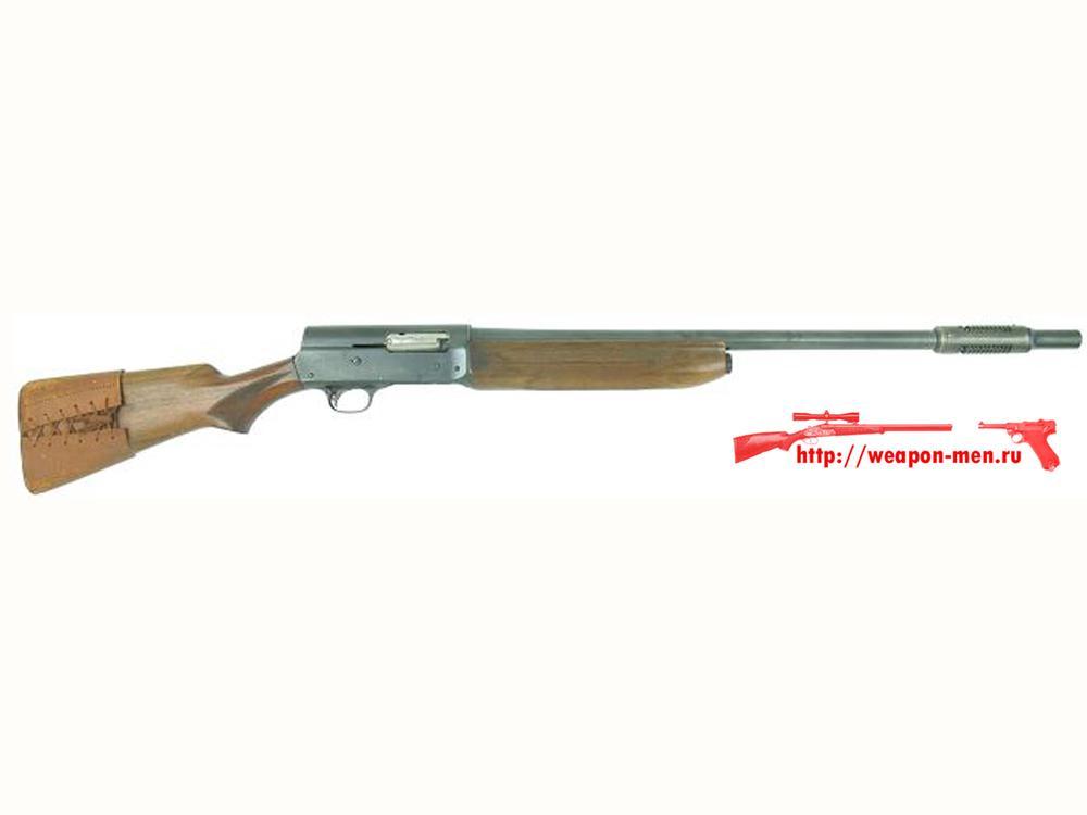 Гладкоствольное самозарядное ружье Remington model 11 с дульным компенсатором системы Каттса (Cutts),
