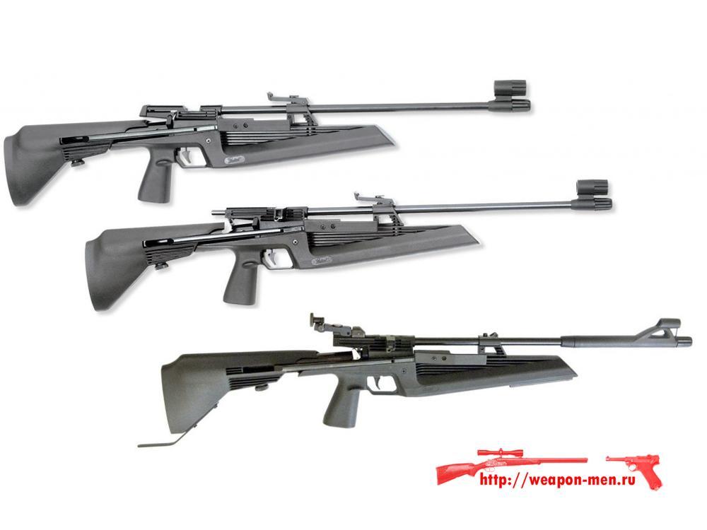 Пневматические пружинно-поршневые винтовки МР-60, МР-61, МР-61-09 с дульной энергией до 7,5 Дж