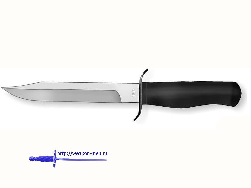 Нож армейский НА-40 (Чёрный нож)