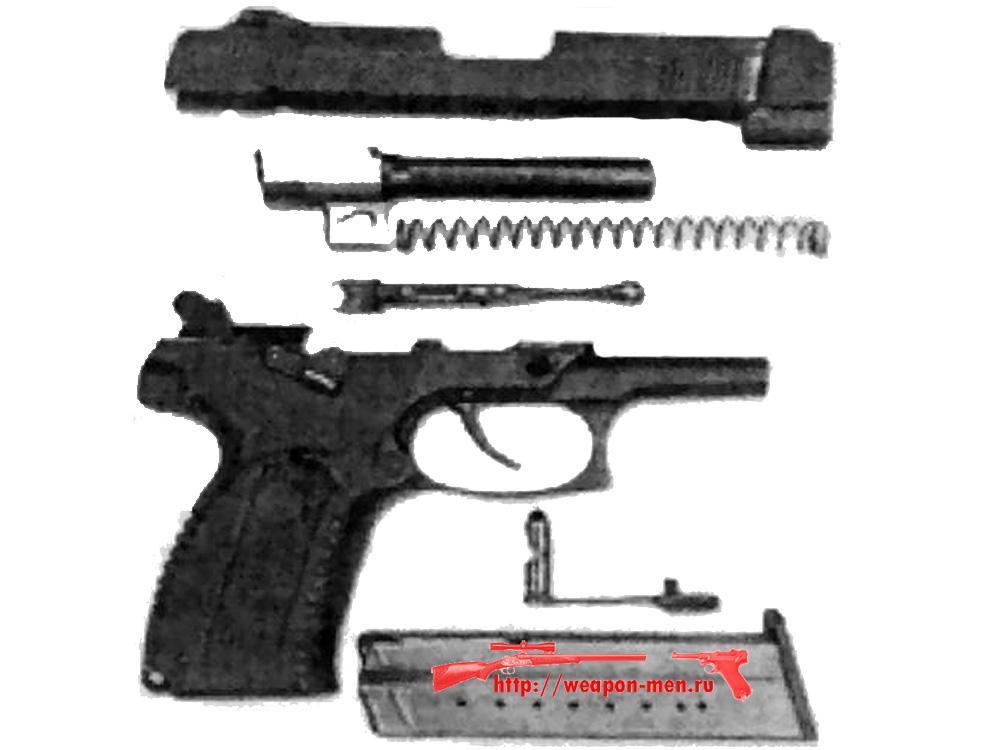 Пистолета Ярыгина после неполной разборки