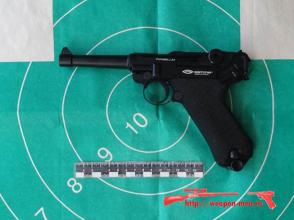 Пневматический пистолет Люгер (Парабелум)